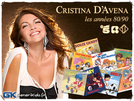 Cristina D'Avena 80-90 bannière Générikids