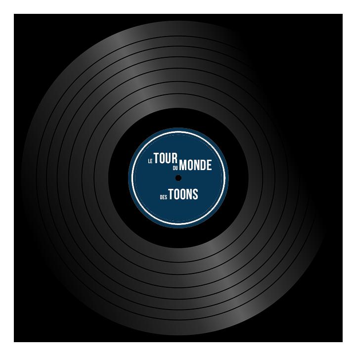 Disque Vinyle Tour du Monde des Toons