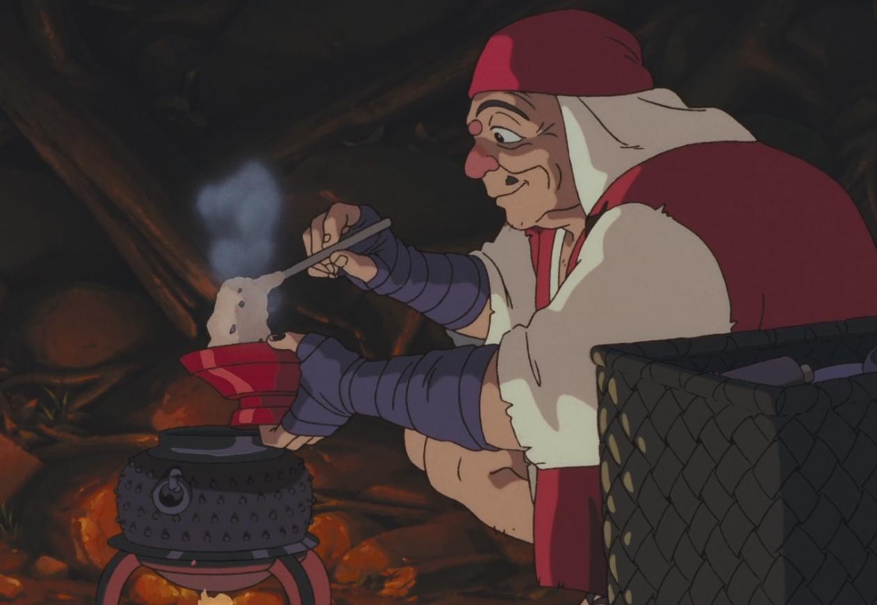 L'Okayu dans Princesse Mononoke