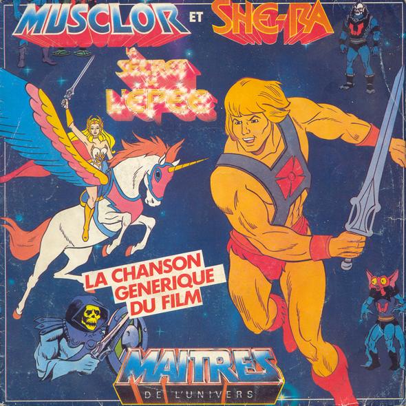 Les Maîtres de l'Univers -Musclor et She-Ra - Le secret de l'épée 45T