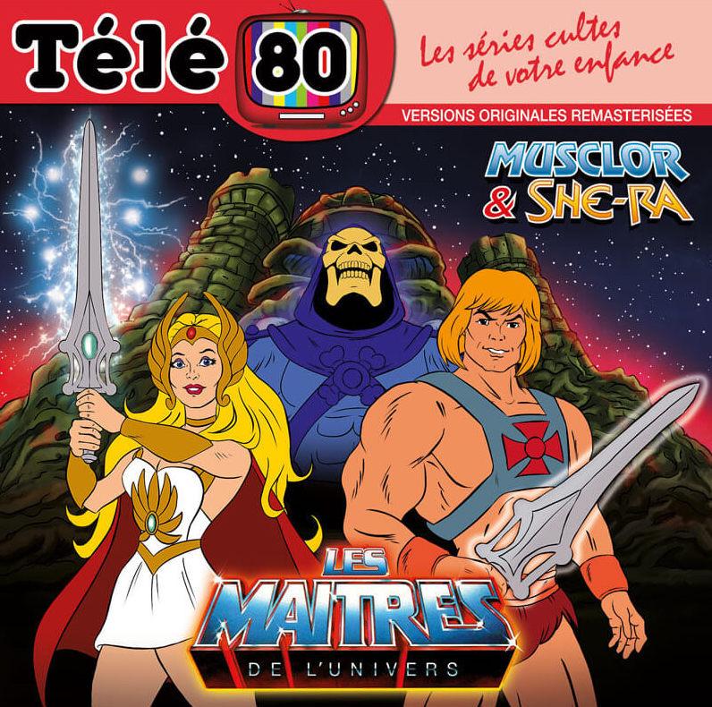 Les Maitres de l'Univers Musclor et She-Ra en CD chez Télé 80